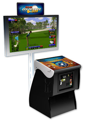 Golden Tee Live 2015 Pedestal with Coin,Bill