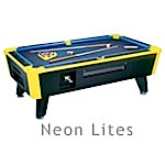 Great American Pool Table Neon Lites Coin-Op